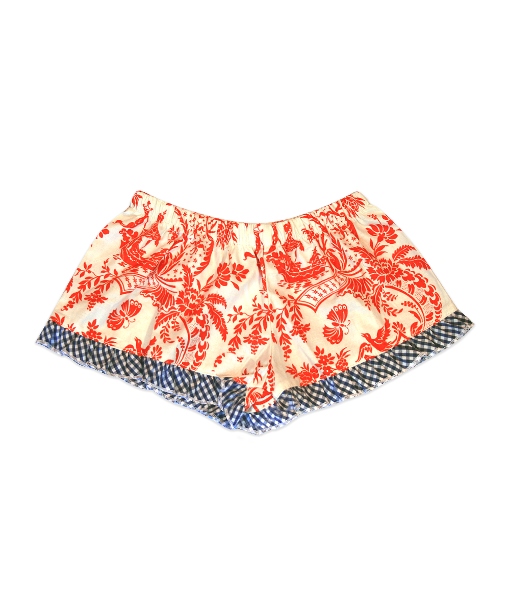 Bella Orange Butterfly Toile Boxer Short