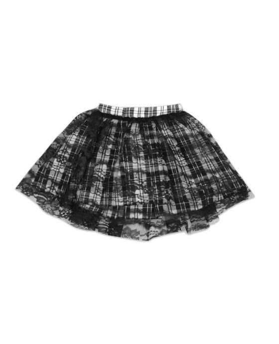 Regan Reversible Lace and Plaid Tutu Skirt