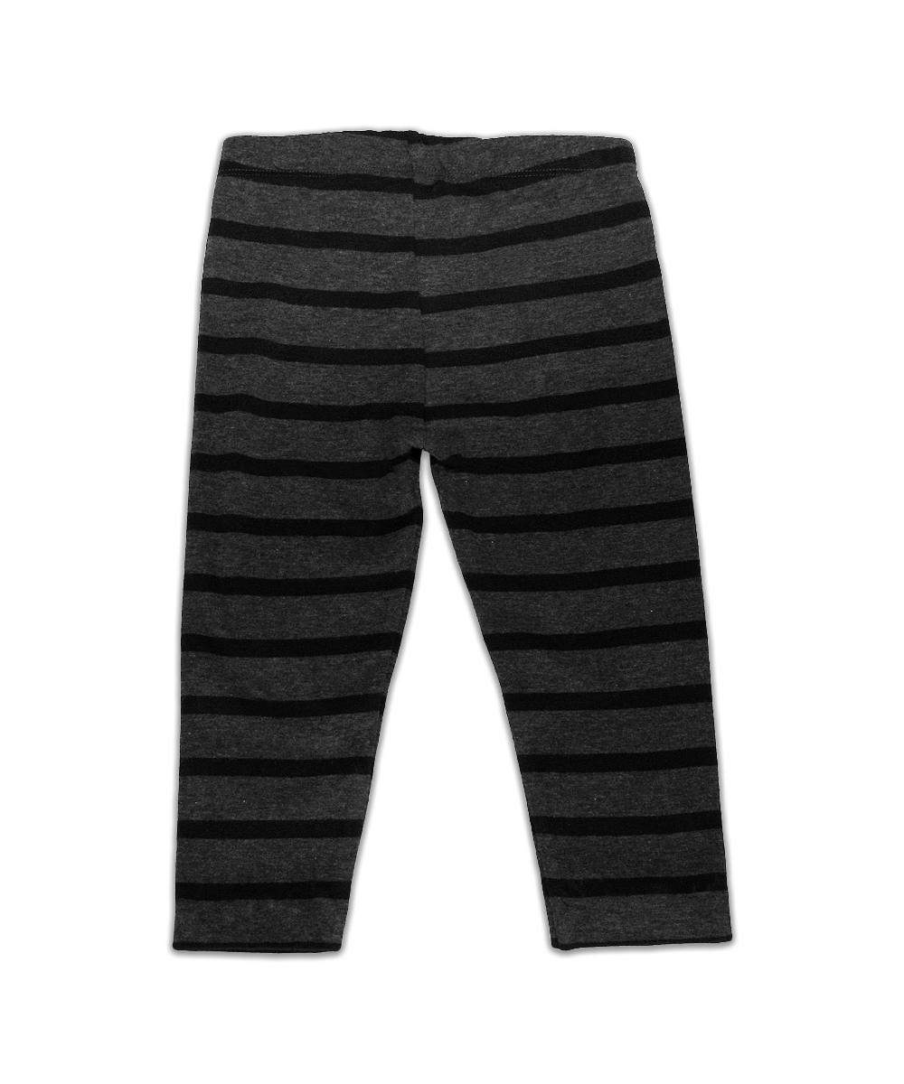 Claire Black & Gray Stripe Legging