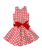 Cade Party Dress Red with White Dots