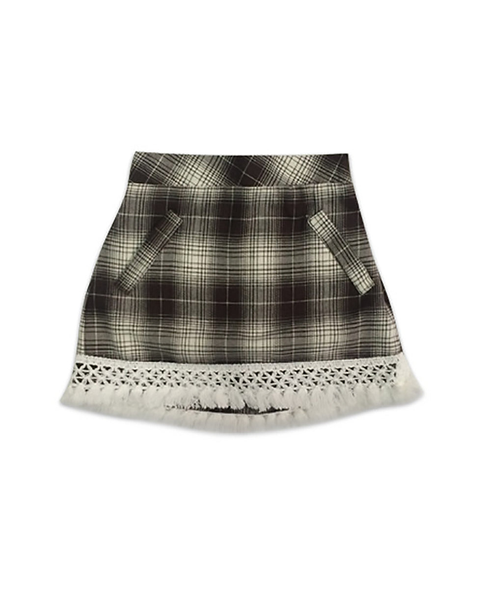 Campbell Flannel Brown Plaid Mini Skort