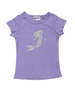 Cap Sleeve Silver Sparkle Mermaid Tee Available in 5 Colors