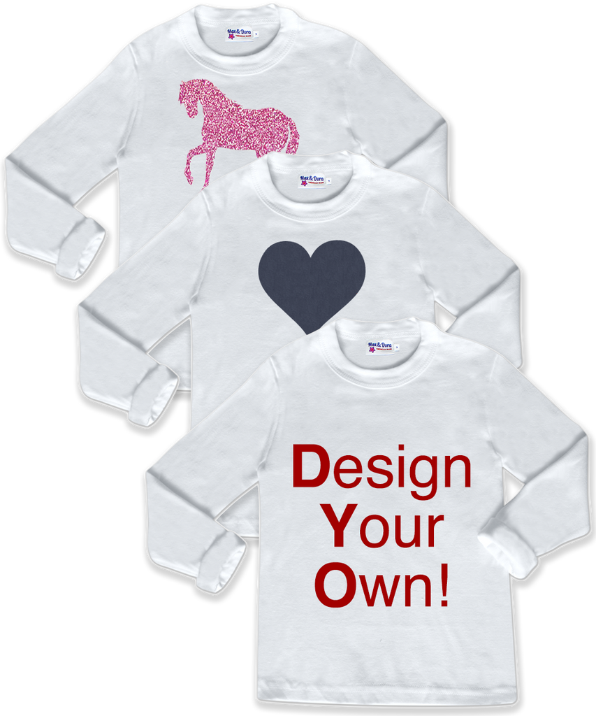 Design your own long sleeve t shirt max dora for Create your own t shirt design