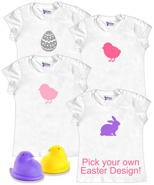 As Sweet as a Marshmallow Peep Pick Your Own Easter Cap Sleeve Tee!