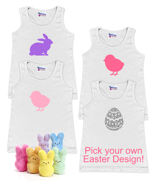 As Sweet as a Marshmallow Peep Pick Your Own Easter Tank Top!