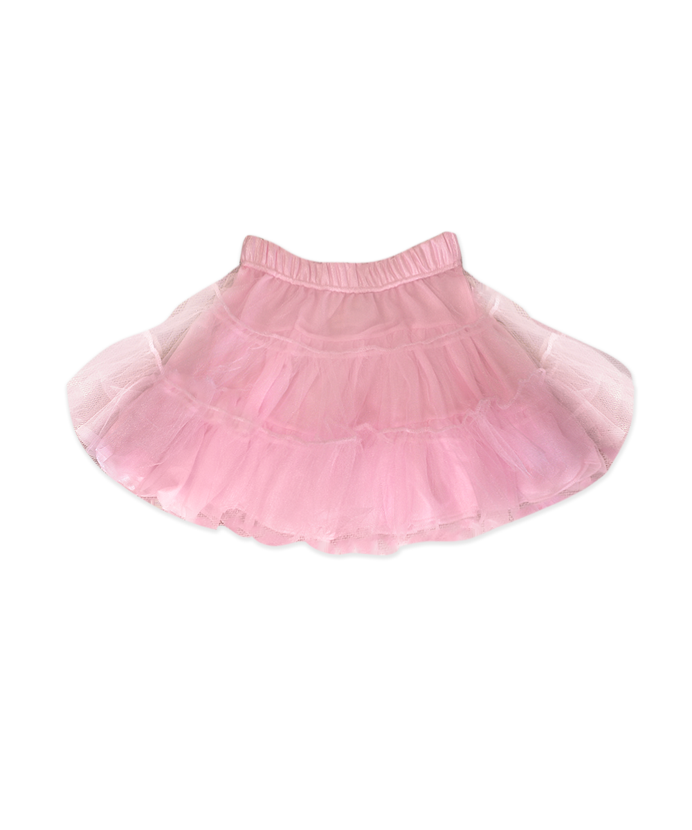 Evee Pink Three Tier Petti Skirt