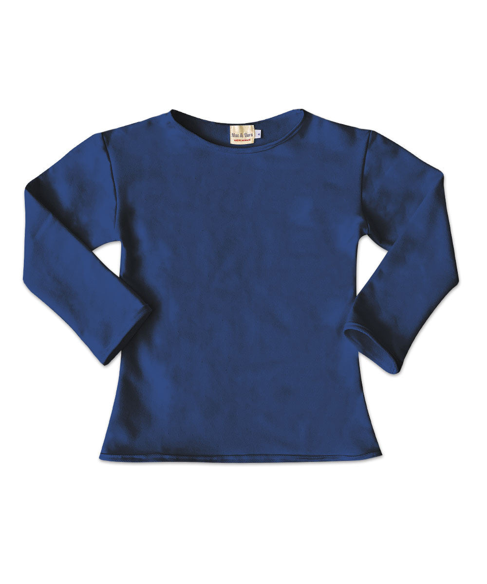 Elle Navy Cotton Pullover Top