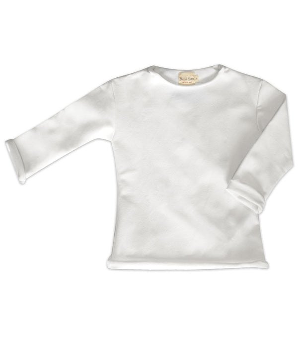 Elle White Cotton Pullover Top