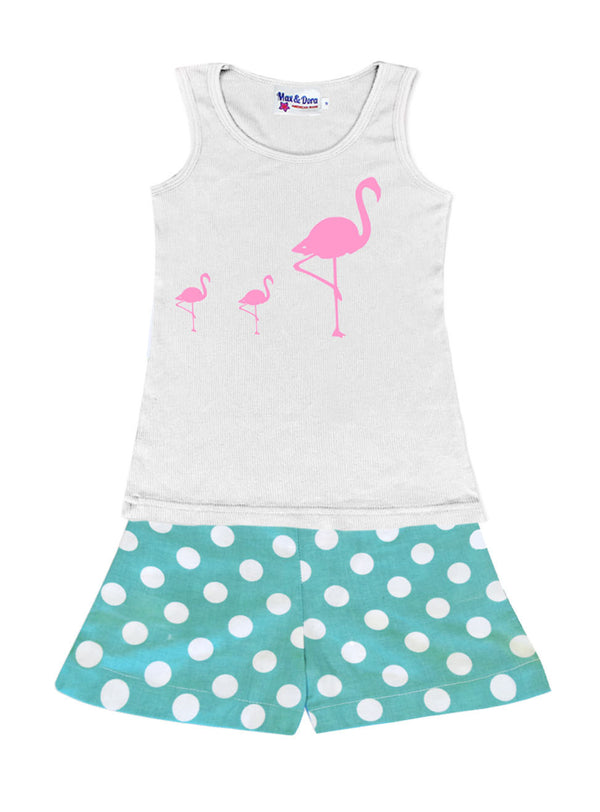 Flock of Flocked Flamingo's Jersey Tank Top Available in 4 Colors