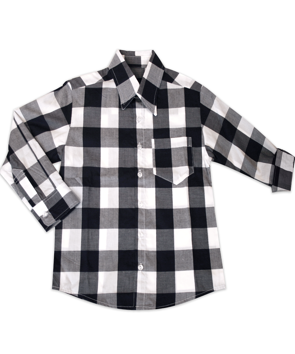 George Navy Buffalo Check Shirt