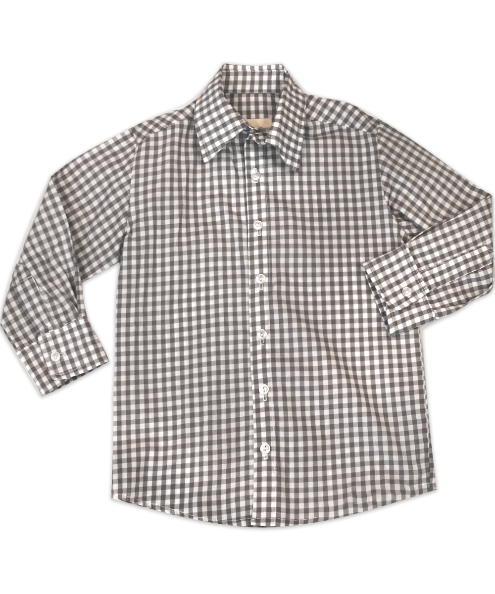George Grey and White Check Shirt