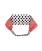 White/Navy Dot and Red Check Reversible Headband