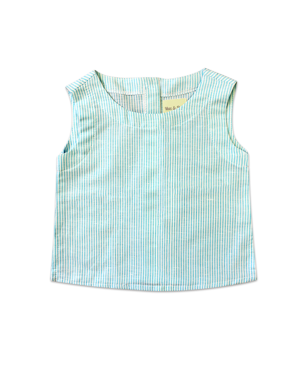 Jamie Aqua Sleeveless Top