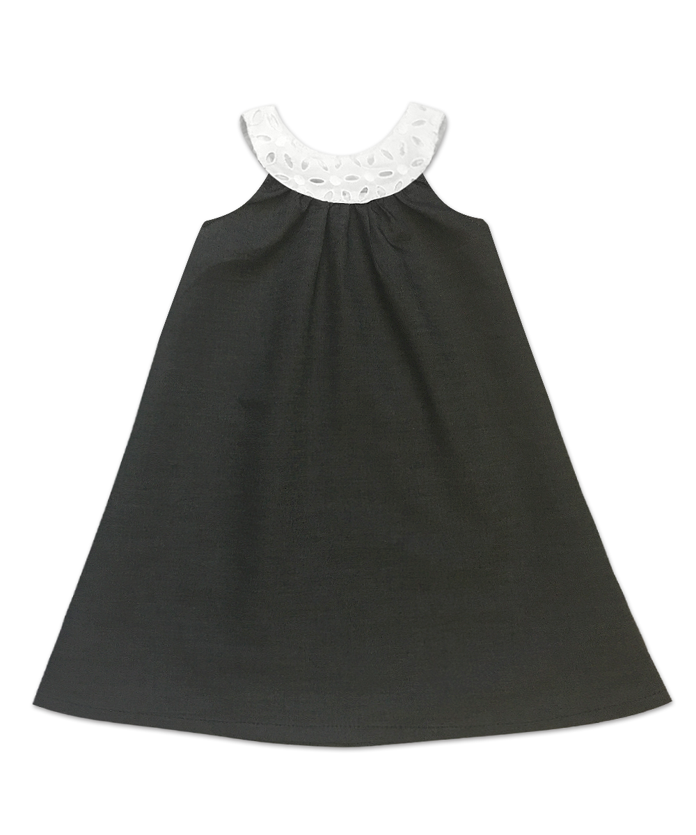 Joie Classic Simple Swing Dress Contrast Eyelet Collar Light Weight
