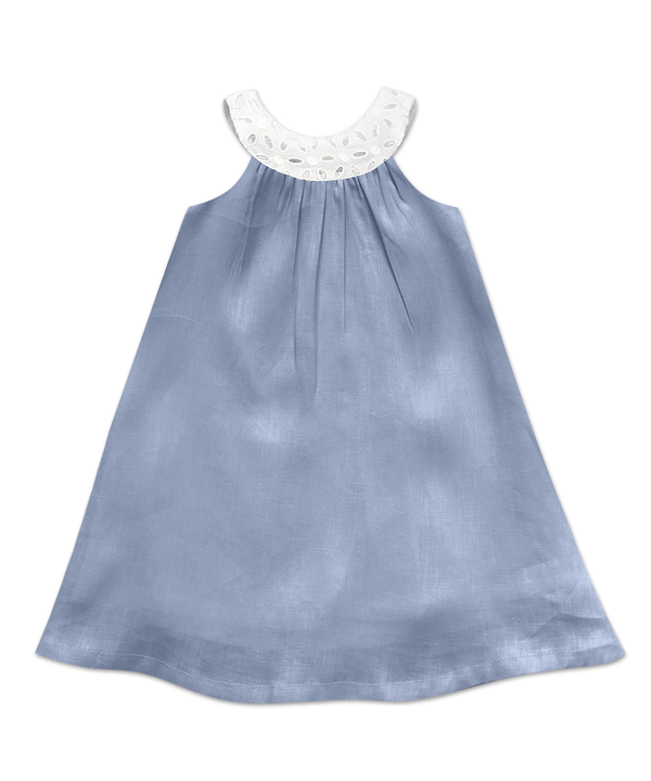 Joie Classic Simple Swing Dress French Blue Linen