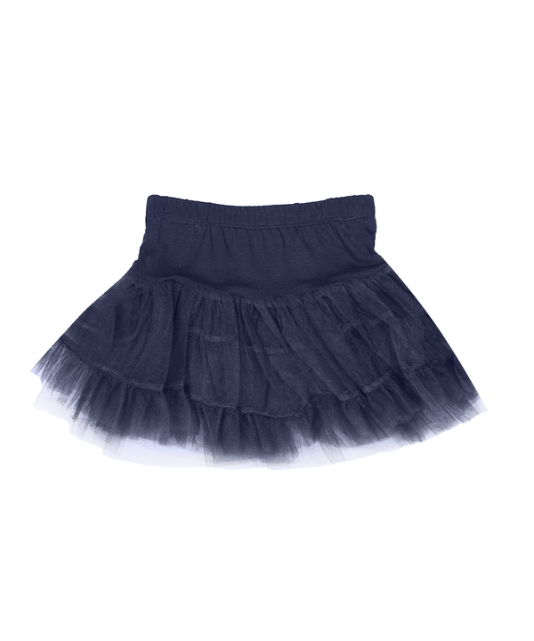 Kelly Navy 3 Layered Tiered Petti-Skirt