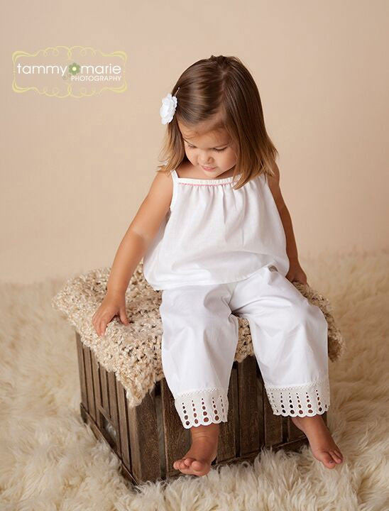 Lily White Cotton Pant