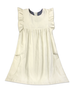 London Ivory Flutter Sleeve Light Weight Corduroy Dress