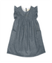 London Chambray Flutter Sleeve Dress
