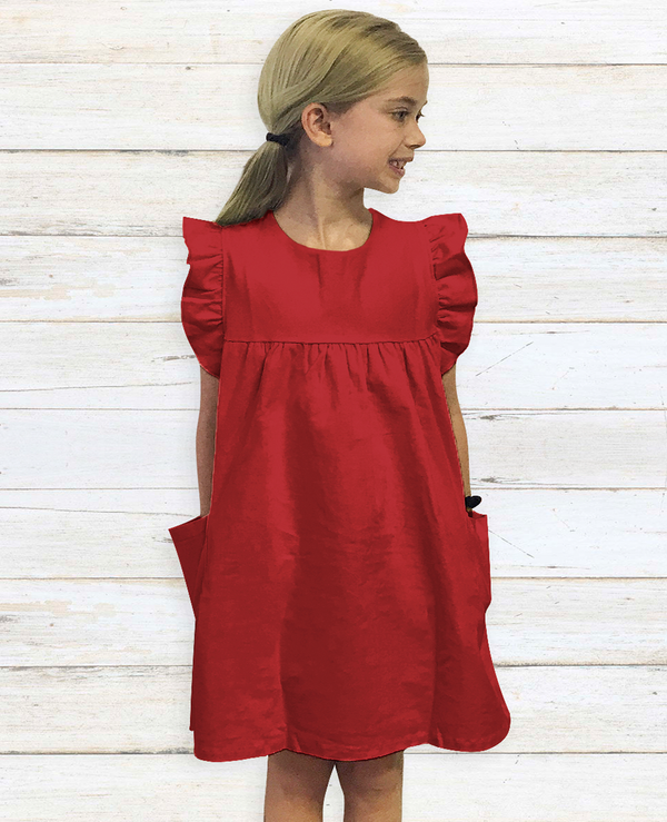 London Red Corduroy Dress