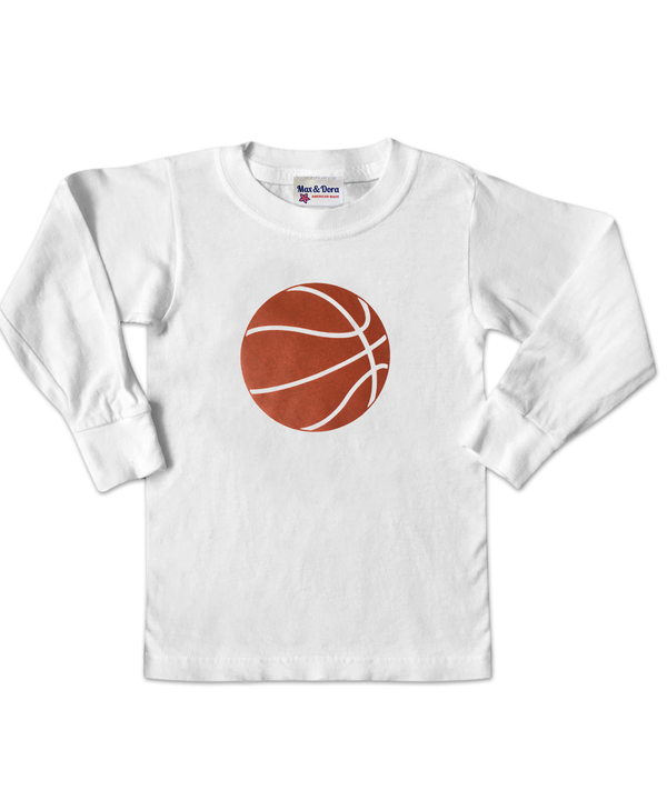 Basketball White Long Sleeve Jersey T-Shirt