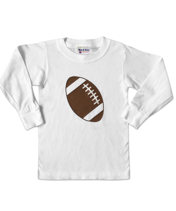 Football White Long Sleeve Jersey T-Shirt