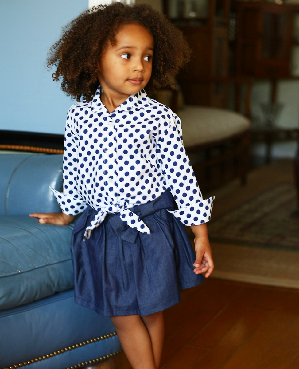 Lucy Denim Skirt with Front Bow