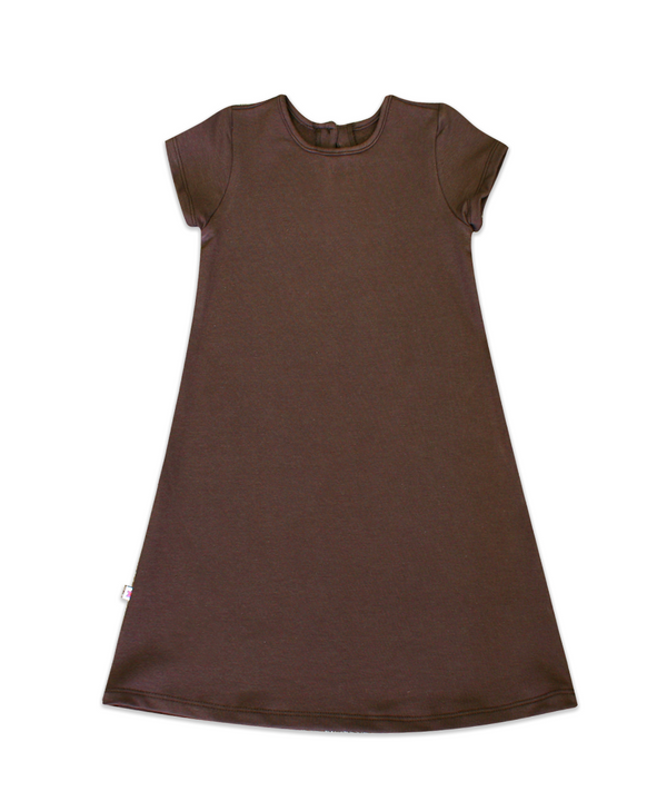 Maggie Nutella French Terry A-line Dress