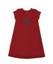 Maggie Red French Terry Jersey Classic A-Line Dress