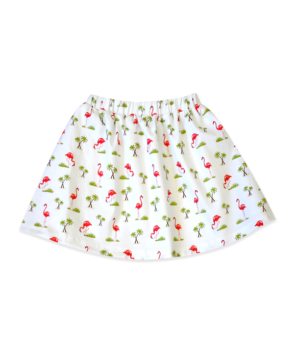 Milly White Flamingo Skirt