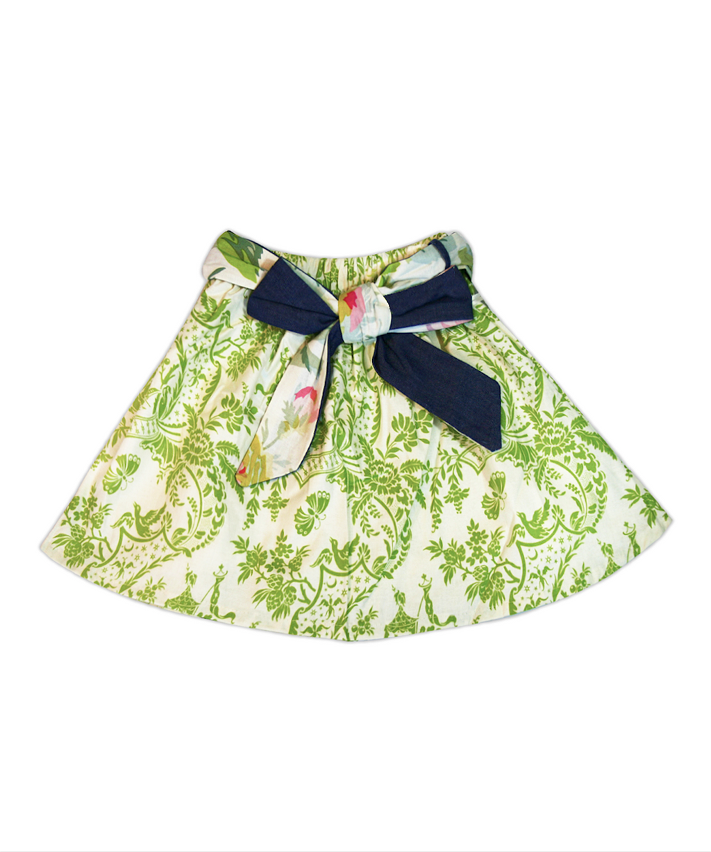 Milly Green Butterfly Toile Skirt