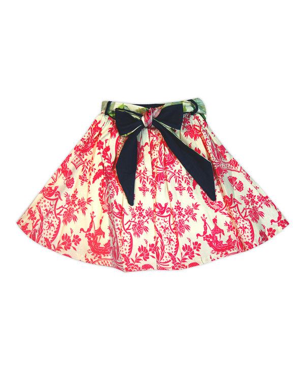 Milly Fuschia Butterfly Toile Skirt