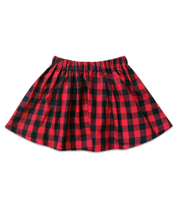 Milly Red and Black Plaid Skirt