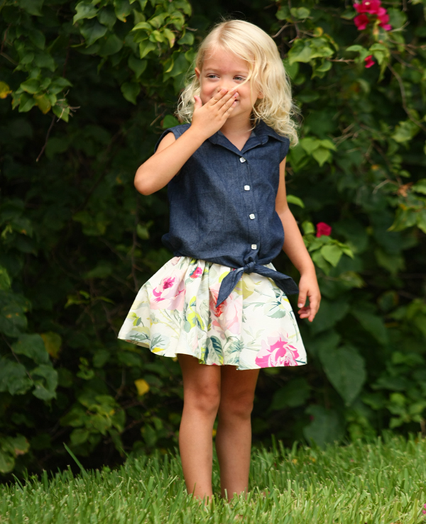 Milly Cabbage Rose Skirt