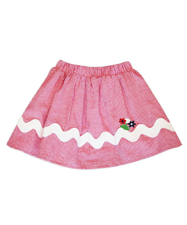 Milly Skirt with Floral Applique