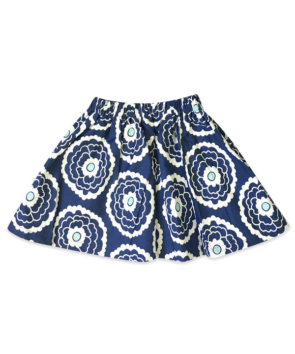 Milly Boho Large Navy and White Floral Skirt