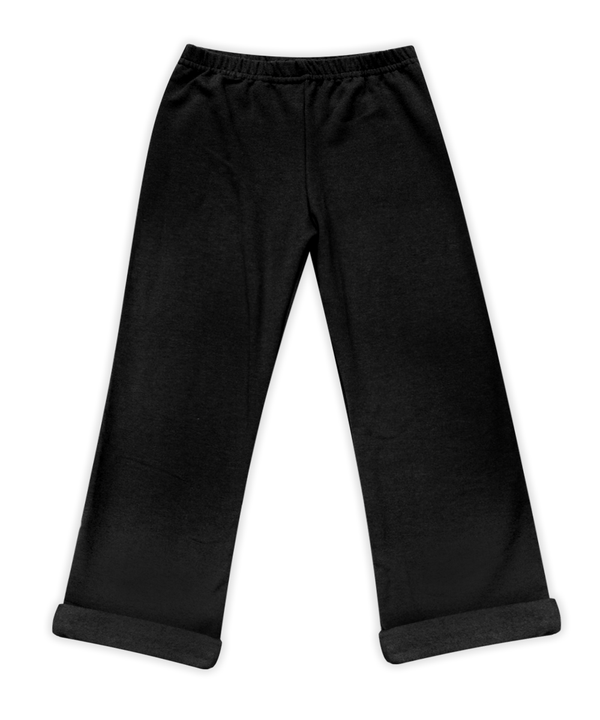 Nikki Black Elastic Waist French Terry Pant