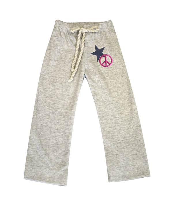 Nikki Gray French Terry Pant with Embellishment