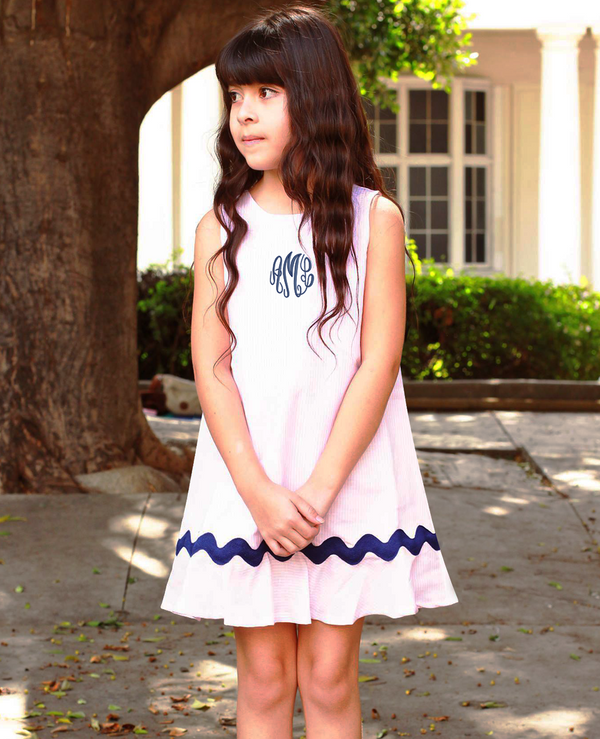 Odette Cotton Candy Linen-Blend Dress