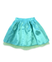 Regan Reversible Aqua Blue with Lime Green Tulle Skirt