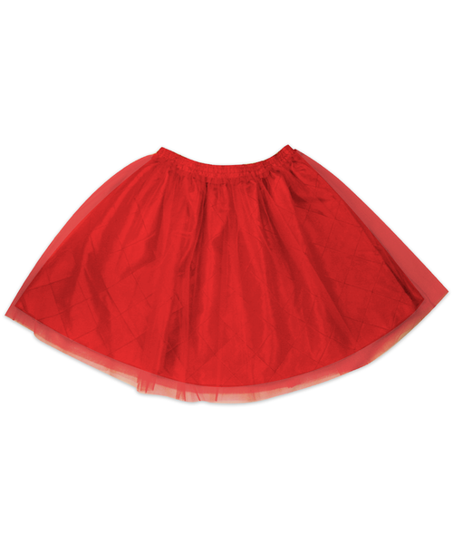 Regan Red Reversible Pintuck Tutu Skirt