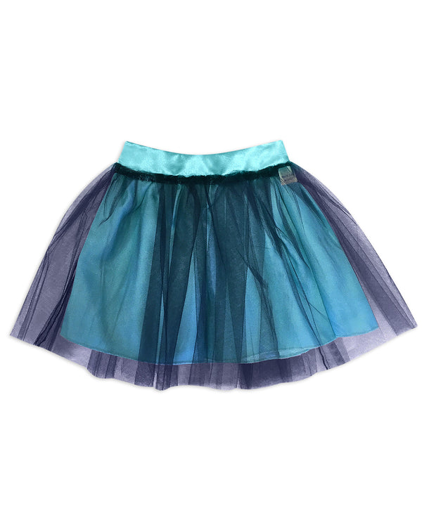 Regan Reversible Aqua Blue with Navy Tulle Skirt