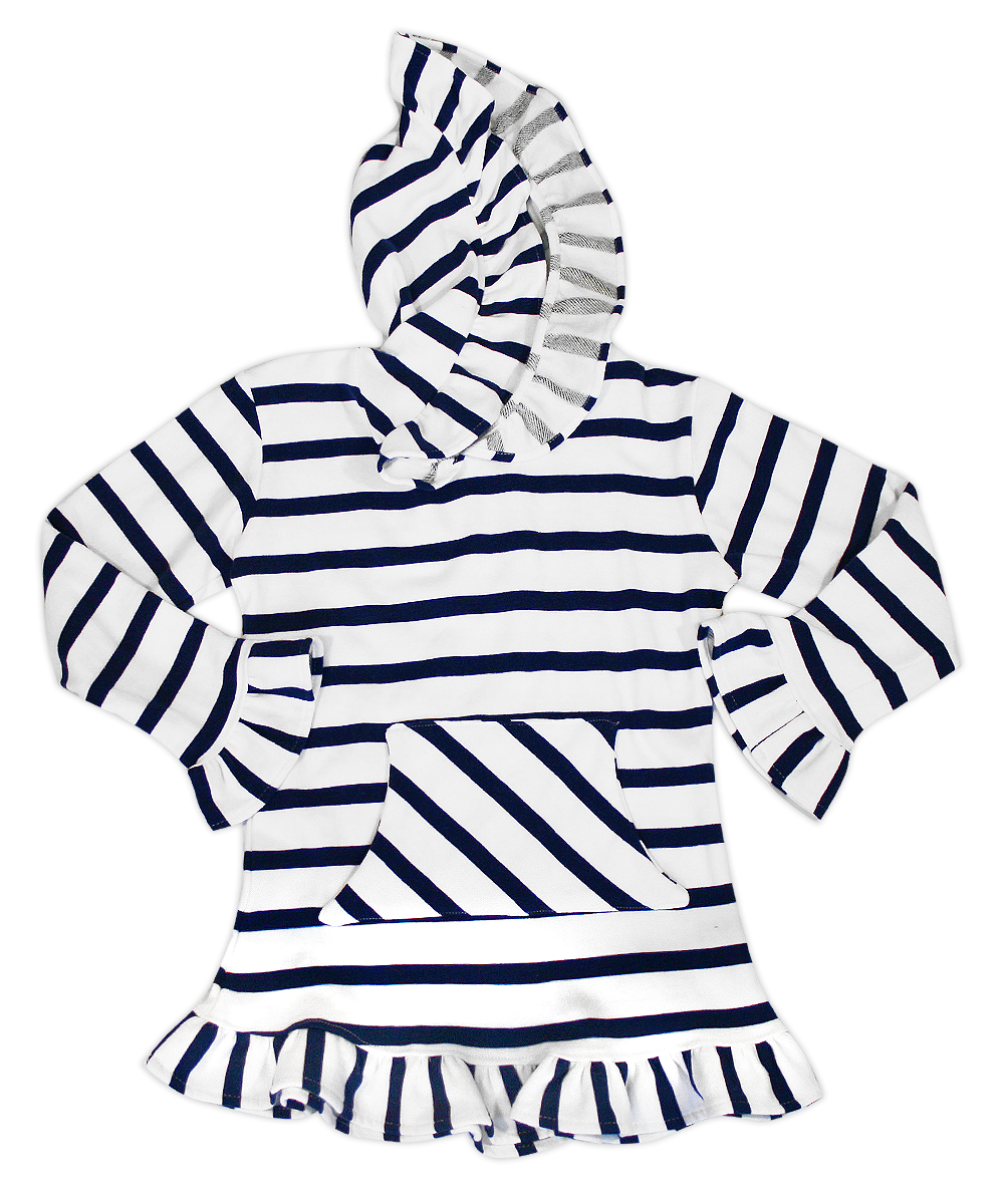 Skylar Hooded Navy/White Striped Tunic