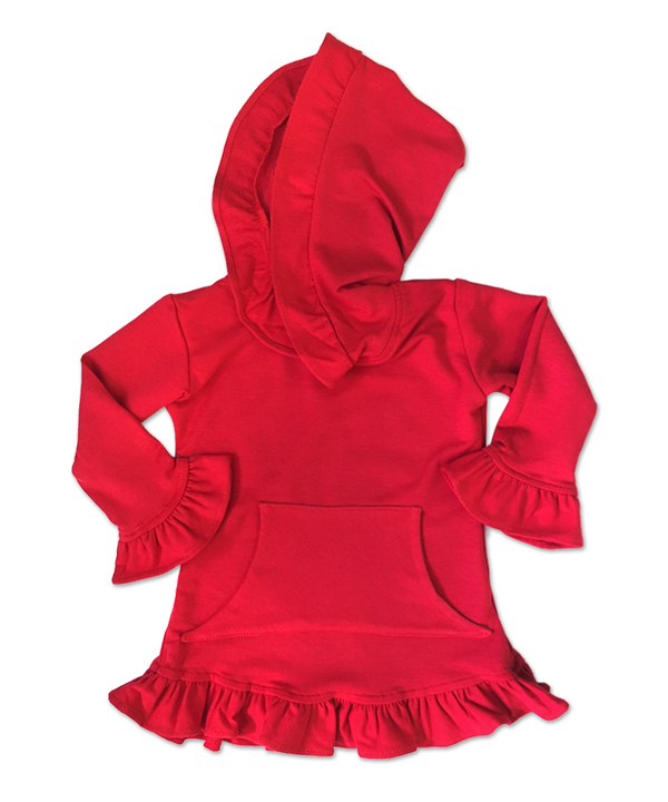 Skylar Red Hooded Tunic