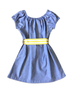 "Stella ""BOHO"" Style Dress in Blue Chambray with Vintage Belt"