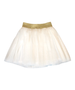Perfect Princess Outfit Gold Sparkle Crown Tank with Sydney Gold Elastic Waist Mesh Skirt