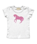 Cap Sleeve Pink Sparkle Horse Tee Available in 4 Colors