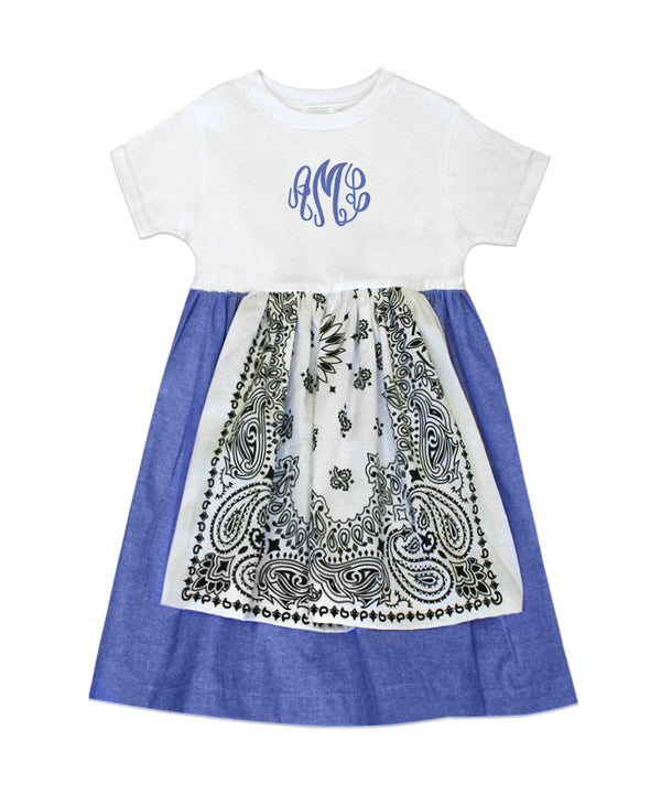 Dakota White Bandana Tee Shirt Dress