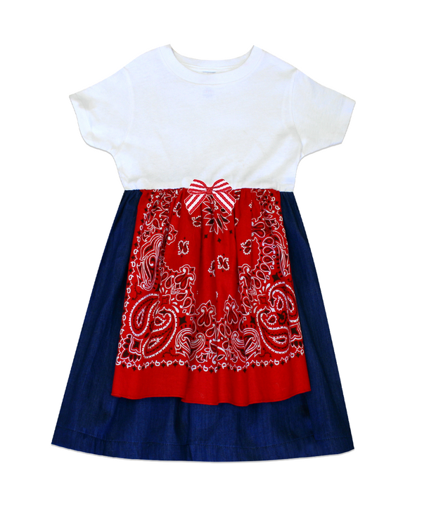 Dakota Red Bandana Tee Shirt Dress