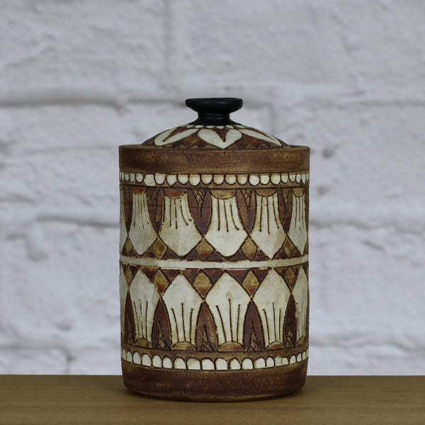Handpainted Jar